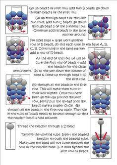 Bead Mavens: Tutorial Tubular Herringbone schema 2