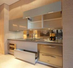 Modern Home Decor Interior Design Kitchen Sets, Home Decor Kitchen, Interior Design Kitchen, Kitchen Furniture, New Kitchen, Home Kitchens, Compact Kitchen, Interior Modern, Modern Kitchen Cabinets