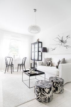 Black and white city apartment