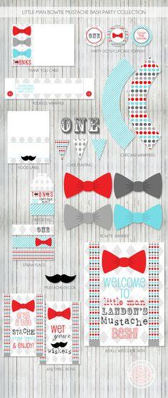 Little Man Bow Tie Mustache Bash Printable by PetitePartyStudio, $49.00
