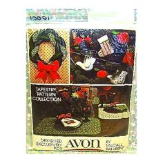Amazon.com: AVON TAPESTRY CHRISTMAS PATTERN COLLECTION FROM MCCALLS SEWING PATTERNS: Everything Else