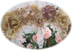 victorian wreaths | Grand Victorian Millinery Floral Wreath