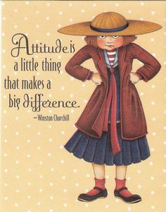 Attitude Little Thing Makes Big Difference Fridge Magnet Mary Engelbreit Artwork