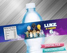 Star Wars Water Bottle Label by kidspartydiy on Etsy