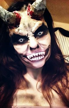 Halloween demon makeup! Halloween, creepy makeup, makeup art ...
