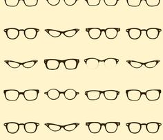 This would make for a fun low back pillow. Retro Glasses Frames $17/ fat quater