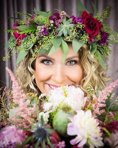 Kalie Drake with About Face Makeup, photographed by Nick Drake, floral design by Lana with Fairbanks Florist.net