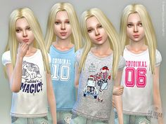 Sims 4 CC's - The Best: Kids & Toddlers Clothing by Lillka