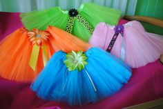 New Tutu Skirt's  with Big Bright Colors & Flowers by Nameitgotit, $15.00