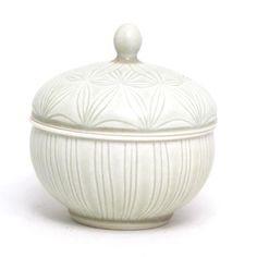 love the fine detail and tones of white - covered jar by Adam Field