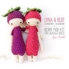 Ravelry: ERNA & BERT - berry mod kit for lalylala dolls pattern by Lydia Tresselt