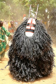Africa | Masked dancer. Guiba, East Central Burkina Faso | ©Gerard Lorriaux