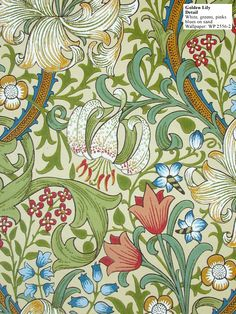 """Golden Lily."" William Morris - fabric and wallpaper"