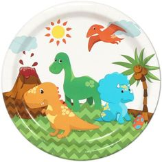 Little Dinosaur Party Lunch Plates (8)