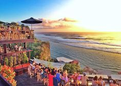 Stunning sunset at Single Fin, Uluwatu, Bali.