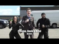 "This. This is why David Tennant is the best.   Cast and crew of Doctor Who singing to ""5,000 Miles""."