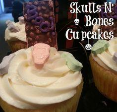 Skulls N Bones Cupcakes