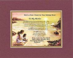 Persernalized Heartfelt Plaque for Mother - To My Mother . . . 11 x 14 Double-Beveled Matting