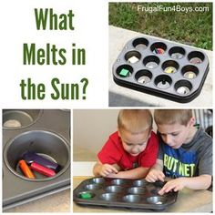 Simple Science Experiment for Kids - What Melts in the Sun?