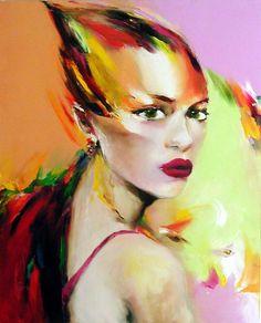couleur d'été/Angela King Gallery USA - Peinture, 80x100 cm ©2006 par Christian Vey -