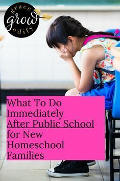 What To Do Immediately After Public School for New Homeschool Families Public School to Homeschool Withdraw from Public School How to Homeschool How to Homeschool After Public School Becoming a Homeschooler Public School Detox Homeschool High School, Homeschool Curriculum, Home Schooling, Public School, Families, Banner, Detox, Ads, Encouragement