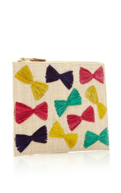 M'O Exclusive: Ginny Straw Clutch With Raffia Embroidery by KAYU Now Available on Moda Operandi