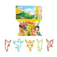 Pack of 20 Disney Fairies Rubber Bands Character Bandz Collect Them All! Disney Licensed Quantity of one pack is 20 Fairy Shapes. Five bandz each of 5 Character Shapes Faeries included: Tinkerbell, Ro