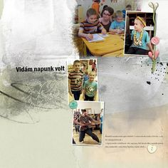 Family Day was in kindergarten, with many sports and games :-)credits: Artsy Template DuoPack No. Family Day, Good Day, Digital Scrapbooking, Kindergarten, Palette, Artsy, Templates, Cover, Books