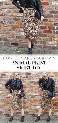 With animal print dominating the high street this season, I thought I'd show you how to make your own DIY leopard print skirt. Animal Print Skirt, Leopard Print Skirt, Diy Fashion, Winter Fashion, Skirt Tutorial, Diy Clothing, Stitches, Sequin Skirt, Sew