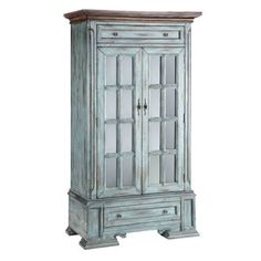 Shop for Stein World Hartford Cabinet, and other Living Room Cabinets at Stein World in Memphis, TN. This classic display cabinet has cottage styling and features two drawers and two glass doors. A moonstone finish and wood-tone top complete the look. Lane Furniture, Painted Furniture, Furniture Ideas, Cottage Furniture, Furniture Refinishing, Distressed Furniture, Furniture Outlet, Furniture Design, Furniture Makeover