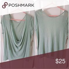 """Free people top Brand new never worn, mint color, loose relaxed fit, modal material, great for layering, tag is size Small but Medium or L works depending on how you like your fits. Length 25"""" bust across 21"""" Free People Tops"""