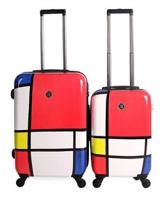 Primary Color Block Two-Piece Luggage Set by NeoCover