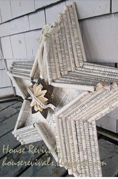 Beautiful & made from old newspapers/books. What a neat way to recycle.