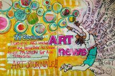 Dirty Footprints Studio - This art journal spread process was done yesterday by 21 SECRETS teacher Ardith Goodwin. Art Journaling, Journal Art, Journal Ideas, Best Artist, All Art, Book Art, Art Projects, Doodles, Artsy