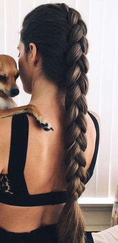 This post contains the most amazing braided hairstyles. These braids will make your hair looks fabulous, attractive and most of all charming Long Ponytail Hairstyles, Long Ponytails, Cool Hairstyles, Latest Hairstyles, Braid Ponytail, Long Haircuts, Evening Hairstyles, Short Braids, Casual Hairstyles