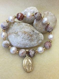 Goldfilled 18k pulsera de Pascua las perlas naturales y