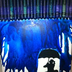 Blue crayon canvas :) i love the different ideas you can do with this.