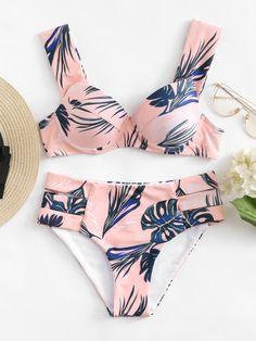 Jungle Print Bikini Set -SheIn(Sheinside)