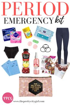 Period emergency kit essentials for the girls always on the go . - Period emergency kit essentials for the girls always on the go Middle School Outfits Emergency ess essentials Girls kit Period Source by -
