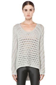 Helmut Lang Inherent Texture Sweater in Light Heather Grey