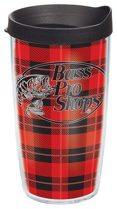 When it comes to keeping your drinks warm, a little flannel goes a long way! Here's the Tervis Tumbler Bass Pro Shops Plaid Insulated Wrap With Lid. #FlannelFest #FlannelFriday