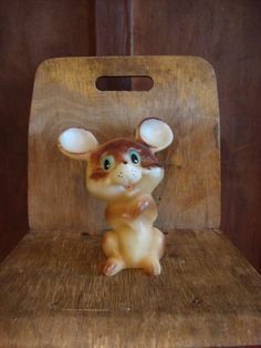 Vintage Rubber Toy Mouse Rubber painted Soviet от OldMoscowVintage