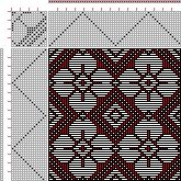 draft image: Page 74, Figure 1, 16 Harness Patterns - The Fanciest Twills of All, 16S, 16T