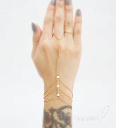 Triple givré Rondelles de cristal, Bracelet chaîne trois, les demoiselles d