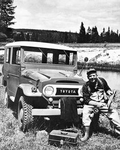 1966 Toyota Land Cruiser and fly fishing. Nothing better