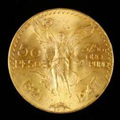 MEXICANOS 50 PESOS GOLD COIN June 20th Estate Auction | Kaminski Auctions