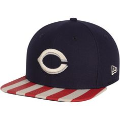 b0737e0f46d23 Men s Cincinnati Reds New Era Navy Red Fully Flagged 9FIFTY Adjustable Hat