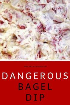 An easy recipe with dried beef and seasoning that will make your mouth water! This bagel dip recipe will be the next favorite at your office potluck or holiday gathering. Appetizer Dips, Yummy Appetizers, Appetizers For Party, Appetizer Recipes, Halloween Appetizers, Party Dips, Party Treats, Dip Recipes, Snack Recipes
