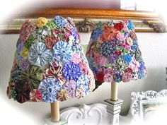 The Beehive Cottage: YoYo Lamp Shades!