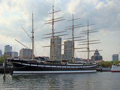 Moshulu and Penn's Landing in Philadelphia.